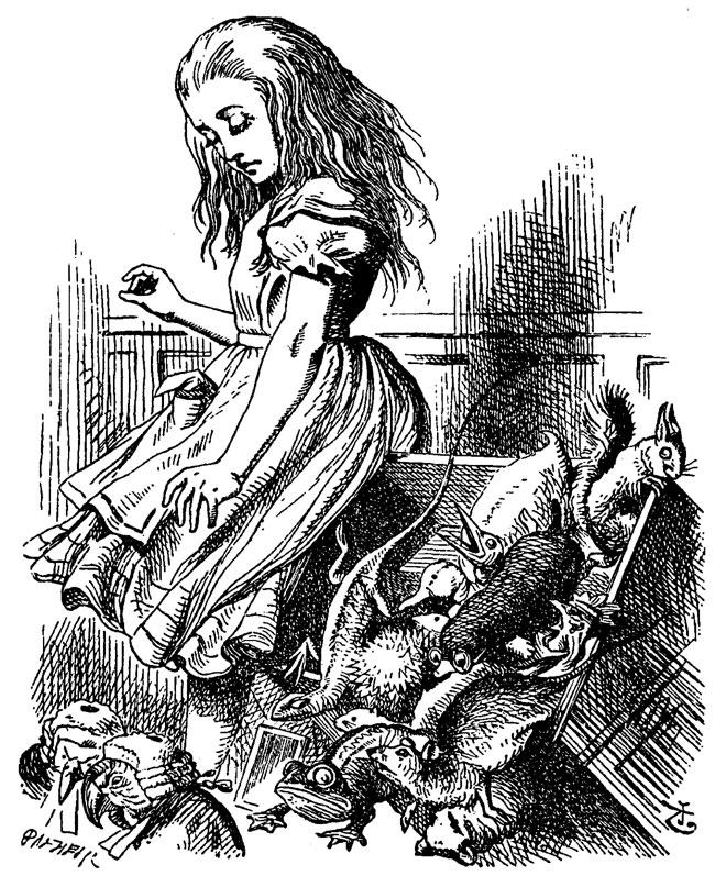 Ilustración de Alicia en el país de las Maravillas