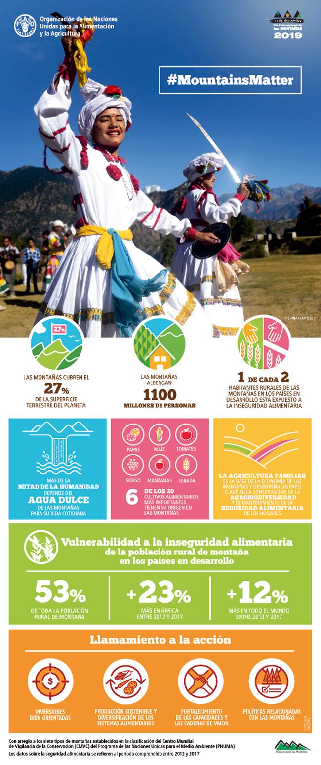 Cartel en español para el Día Internacional de las Montañas 2019