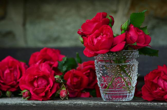 Las rosas rojas forman parte de la simbología de San Valentín