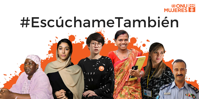 Cartel Pinta el mundo de naranja: #EscúchameTambién