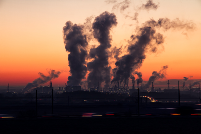 La industrialización genera gran parte de gases de efecto invernadero