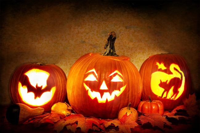 Las calabazas adornan todos los rincones en la noche de Halloween