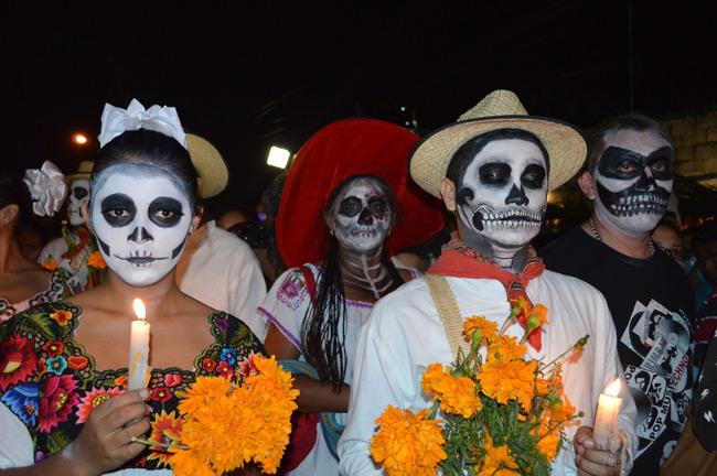 El Día de los Muertos en México es Patrimonio Cultural Inmaterial de la Humanidad.