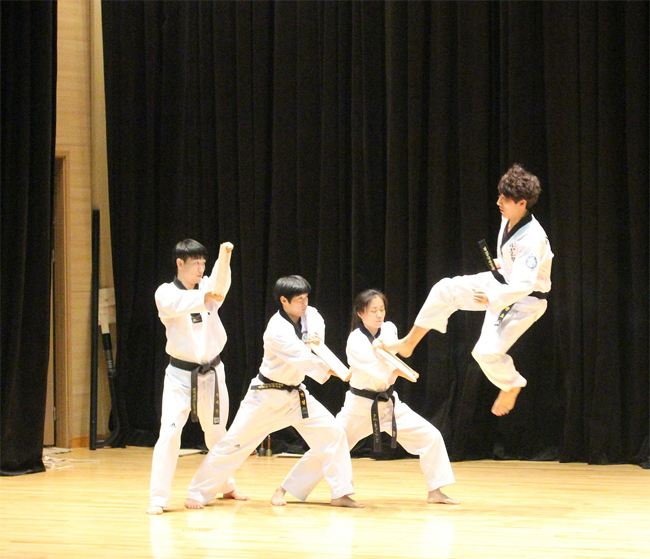 Patada salto en Taekwondo. Imagen de Andrew Yuan