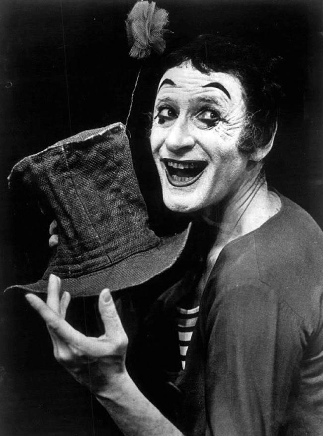 El mimo Marcel Marceau
